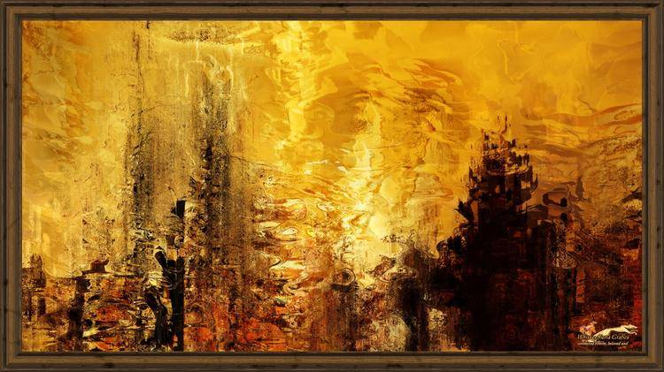 abstract romance framed-x