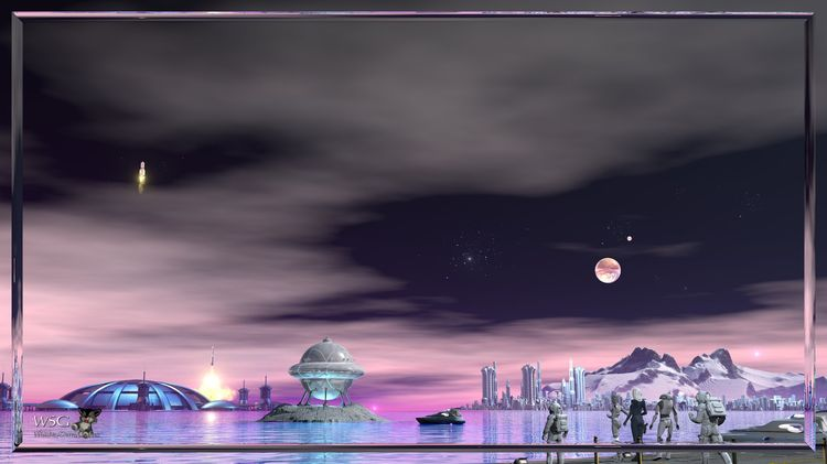 Galactic Cities - Port Rhodan-x-framed-x