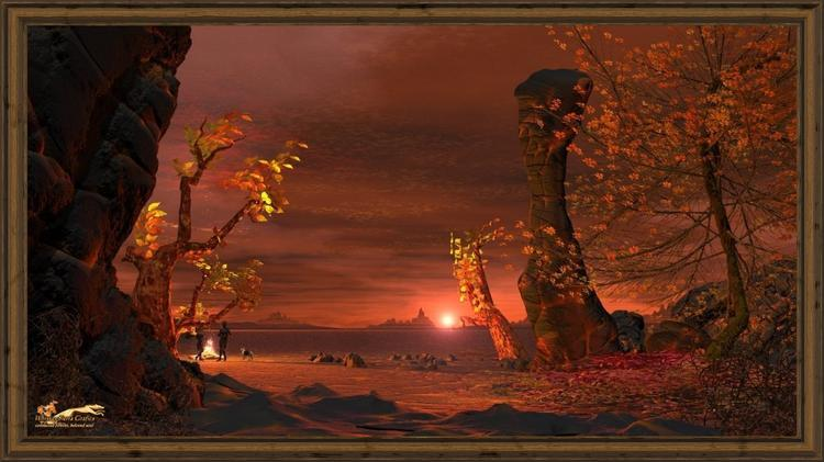 archaic landscape - fall evening 16 to 9-x-framed